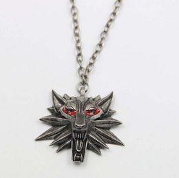 Wholesale U Link - 2016 Hot Sale Pendant Wizard Witcher 3 Medallion Pendant Necklace Wolf Head Necklace U Pick Color Halloween Necklace & Pendants
