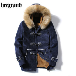Wholesale Cashmere Hooded Hat - Wholesale- HEE GRAND 2017 Winter Jacket Men Thick Warm Casual Coat Windproof Hooded Outwear Jackets Men Outwear Parkas New MWM1490
