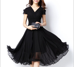 Wholesale Dress Different Colors - Free Shipping Cap Sleeve Layered High Waist Deep Purple Chiffon Dress Six Kinds Of Colors Four Different Sizes Can Be Chose