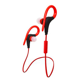 Wholesale Usb Computer Headsets - Sport Earphone Wireless Bluetooth stereo with earhooks CSR 4.1 Headset Headphones Ear Phone Earbud for outdoor Sports phones computers