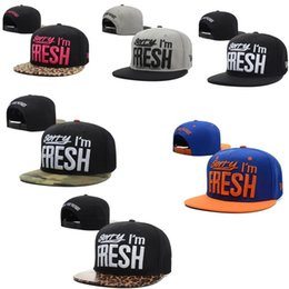 Wholesale Sorry Fresh - HOT Hats 1PCS Wholesale Sorry I'm Fresh Snapbacks Caps Fashion hip hop HATS Adjustable Baseball caps Snapback Sun Hat Free shipping