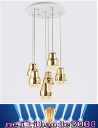 Wholesale Fit Hotels - LED Pendant Lights Postmodern Creative Personality Suspension Lamp Dining Room Light Fitting Children Lights Gold Silver MYY