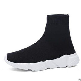 Wholesale Toe Sports Socks - 2017 Speed sock high quality Speed Trainer running shoes for men and women sports shoes Speed stretch-knit Mid sneakers ,size Eur 36-44