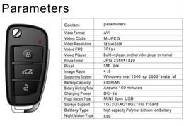 Wholesale Dvr Ir Detection - HD 1080P S820 Spy car key camera with IR night vision Motion Detection Mini DV DVR for Audi Keychain hidden camera video recorder