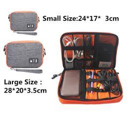 Wholesale Electronics Organizer Bag - Waterproof Double Layer Cable Storage Bag Electronic Organizer Gadget Travel Bag USB Earphone Case Digital Organization PC876982
