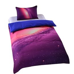 Wholesale Cheap Single Sheets - Wholesale- BeddingOutlet Cheap Galaxy Bedding Set Twin Single Full Queen King Soft High Quality No Fade Bed Sheet Set Hipster Only