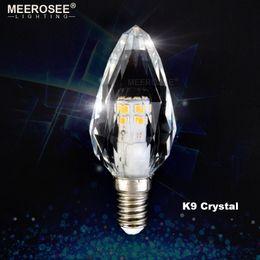 Wholesale E14 3w Led Clear Candle - 2017 NEW LED Crystal Lamp 3W 220V 110V LED Candle Bulb Crystal LED Light for Chandelier E14 E12 Candelabra for Living room