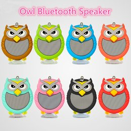 Wholesale Hot Cartoon Mp3 - New Small Animal Bluetooth Speakers for Mobile Phone hot selling Wireless Owl Audio with Phone Sockets