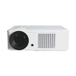 Wholesale Lcd Built Pc - Wholesale-2000Lumens LED Projector HD LCD Built-in Speaker 3D Home Theater Projektor Proyector HDMI VGA USB AV TV PC Projectors Beamer