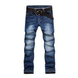 Wholesale Boots Coat - 2017 Men's Business Casual Jeans Male Mid Waist Slim Boot Cut Straight Four Seasons Jeans Oversized 26-38 Hot Sale Pants Denim