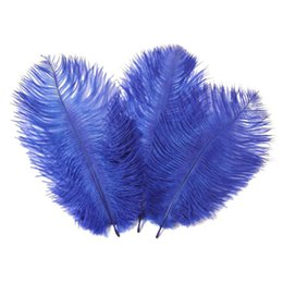 Wholesale Ostrich Feather Centerpiece Pink - Colorful 24-26 inch(60-65cm) Ostrich Feather plumes for wedding centerpiece wedding party event decor festive decoration Z134
