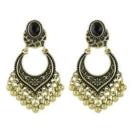 Wholesale Tibetan Silver Beads China - Latest Design Fashion Jewelry Antique Alloy Tassels Earrings Tibetan Design Metal Beads Big Chandelier Earrings for Women