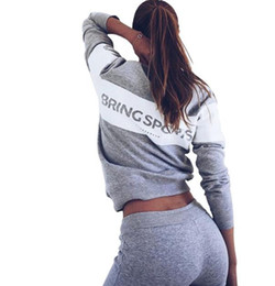Wholesale Baseball Hoodie For Women - Women's Sport Suits 2017 Brand New Tracksuit for women sweatshirt and Joggers sets Plus Size Autumn Winter Coat svitshot hoodie sports