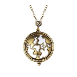 Wholesale Bronze Star Gifts - Long Locket Necklace Vintage Hollow Out Stars Design Pendant Bronze Plated Cage Pendants Necklace For Women Fashion Jewelry