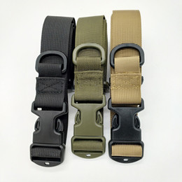 Wholesale Tactical Belt Webbing - New Style Outdoor Tactical Molle Webbing Belt Nylon Military Men Waist Belt For Hunter Bag Hot Sale