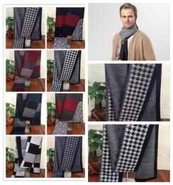 Wholesale Men S Headbands - Autumn And Winter thousand Birds pattern business men scarves Stripes warm men 's scarves 11 colors 50 pcs YYA569