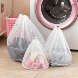 Wholesale Plastic Mesh Bags - 1 pcs 3 sizes Mesh Laundry Wash Bags Foldable Delicates Lingerie Bra Socks Underwear Washing Machine Clothes Protection Net