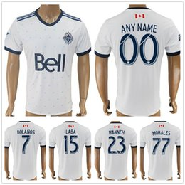 Wholesale Thailand Quality Soccer Jerseys Xxl - 2017 2018 Vancouver Whitecaps Soccer Jersey Thailand Quality 7 BOLANOS 15 LABA 23 MANNEH 77 MORALES Home White Football Shirt Uniform Kit