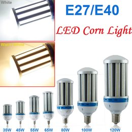Wholesale E27 White 3528 - Warranty 3 Years + 12w 21w 24w 55w 80w 100w 120w LED corn bulbs E26 E27 E39 E40 lamp Garden Lights Warehouse parking lighting