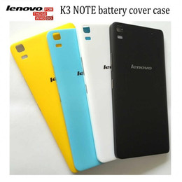 Wholesale Lenovo Original Phone - Wholesale-Original 5.5 inch lenovo k3 note battery cover case with Push-button K50-T5 K50-T3S phone housing case free shipping