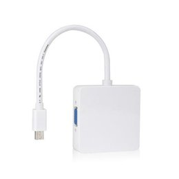 Wholesale Thunderbolt Mini Hdmi - S5Q Premium Thunderbolt Mini DP To DVI VGA HDMI 3 In 1 Adapter Cable For MacBook AAAGQL