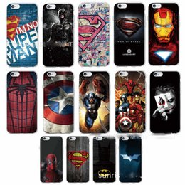 Wholesale Spiderman Wallets - The Avengers Alliance Spiderman Ironman TPU soft case cover for iphone 6 6 plus 7 7 plus Galaxy S8 S8 PLUS S7 S7 EDGE S6 S6 EDGE A5 2017