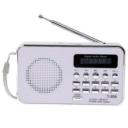 2019 altavoces digitales para pc Al por mayor-T-205 Altavoz de la tarjeta de HiFi portátil Altavoz Digital Multimedia FM Radio Compatible con PC MP4 MP3 PC teléfono móvil altavoces digitales para pc baratos