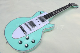 Wholesale Oem Guitars Music - New Arrival Custom Shop 1960 Corvette Light blue electric guitar,symbol of Footsteps music fingerboard,OEM,Free shipping