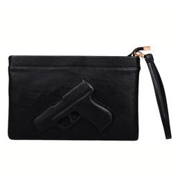 Wholesale Designers Handbags For Ladies - 3D Print Gun Women Messenger Bag Handbags Designer Pu Leather Clutch Women Shoulder Bags For Ladies Crossbody Bag Envelope Tote