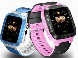 Wholesale Gsm Watches Wifi - 2017 Smart Baby Watch Children Kid Wristwatch Y21 GSM Locator Tracker Anti-Lost Smartwatch Child Guard DMA Nano SIM Wifi Heart Rate