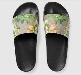 Wholesale Womens Flower Flat Sandals - 2017 mens and womens fashion causal slippers boys &girls tian blooms print flower slide sandals unisex outdoor beach flip flops size 34-45