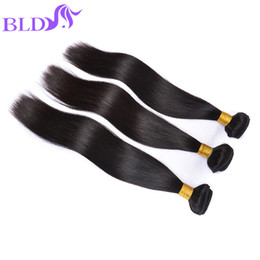 Wholesale Best Brazillian Hair Weave - Brazilian Hair Weave Bundles Best Unprocessed Brazillian Peruvian Indian Malaysian Straight Human Hair Extensions Natural Black