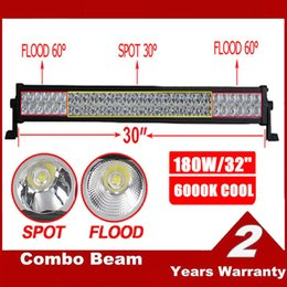 """Wholesale Drive 32 - 32"""" Inch 180W LED Working Driving Light Bar for Boat Off Road 4x4WD Fog Lamp 10-30V Car Jeep Truck Tractor Spot Flood Combo Beam SUV ATV UTE"""