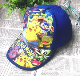 Wholesale Elf Hats - 2017 Poke Caps Adjustable Cartoon Peaked Caps Pocket Monster Hats Casual Poke Pikachu Baseball Caps Elves Hats