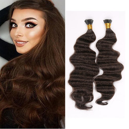 """Wholesale I Tip Remy Hair - Resika Best Selling Brazilian Remy Body Wave i tip hair Extensios #613 bleach blonde human hair extensions 16""""-22"""" free shipping"""