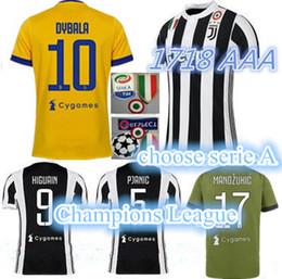 Wholesale Italy Soccer Jerseys - TOP QUALITY men 17 18 HIGUAIN POGBA Soccer Jersey 2018 italy CUADRADO DYBALA MARCHISIO BONUCCI MANDZUKIC CHIELLINI MARCHISIO Football Shirt.