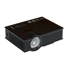 Wholesale Home Theater Led Lighting - Wholesale-UC40 Mini Projector 3D HD DLP Portable Home Theater LED Light Video LCD VGA HDMI Cinema USB Proyector Beamer