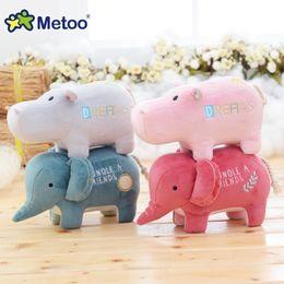 Wholesale Doll Metoo Plush Toys - Metoo Stereo Animal Doll Plush Toys Elephant Hippo Home Decoration Dolls Cute Warm Stuffed Dolls Kids Children Gift Sofa Car Decor