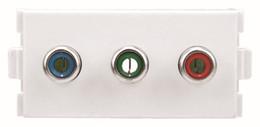 Wholesale Video Wall Plates - Wholesale- Component Video + Audio RGB 3 RCA AV Wall Plate, Component video module216, Combo wall plate,White Face Plate Wall Socket