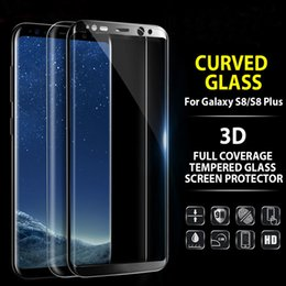 Wholesale 4d Glasses - Note 8 New 4D 3D Curved Strong 9H Hardness Full Coverage Tempered Glass Screen Protector Film for Samsung Galaxy S6 S7 Edge S8 Plus Note 8