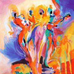 Dipinti jazz online-Riproduzione di dipinti ad olio di alta qualità di Alfred Gockel di arte moderna di Jazz Explosion ad olio dipinto a mano