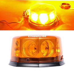 Wholesale Strobe Flashing Car Headlights - COB 8 LED 12 Flashing Mode Car Auto Beacon Lights Emergency Hazard Warning Strobe Light w  Magnetic Base