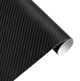 Wholesale Motorcycle Sheets - 30cmx127cm 3D Carbon Fiber Vinyl Car Wrap Sheet Roll Film Car stickers and Decals Motorcycle Car Styling Accessories Automobiles