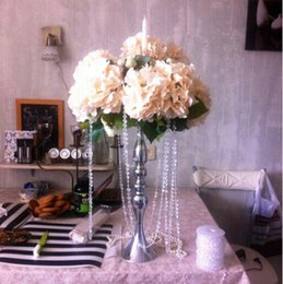 candle led silver prices - Silver Metal Candle Holders 50cm 20'' Stand Flowers Vase Candlestick As Road Lead Candelabra Centre Pieces Wedding Decoration