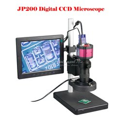Wholesale Inspection Video - JP200 HD digital video CCD microscope suitable for precision metal industrial electronic repair quality test for bga rework use