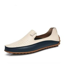 Wholesale Causal Slip Loafers Men - New Brand Summer Causal Shoes Men Loafers Genuine Leather Moccasins Men Driving Shoes High Quality Flats For Man size 36-47