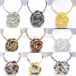 Оптовое гибкое ожерелье онлайн-Оптовая Drop доставка розничная 5 мм 90 см смешанные красочные железа гибкие витой змея ожерелье 13 цветов, 1 шт. / упак.