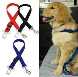 Wholesale Drop Seats - Djustable Pet Cat Dog Car Safety Seat Belt Harness Vehicle Seatbelt Lead Leash for Dogs 6 Colors Drop Shipping