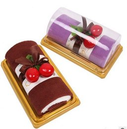 Wholesale Swiss Roll Towel Cake - 2017 hot sale Pure cotton towel MX - 03 strange new gift towel cake Hardcover Swiss roll cake towel Creative gifts