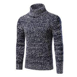 Wholesale Warm Sweaters Men - Wholesale- autumn winter men fashion turtleneck warm sweaters pullovers men casual slim sweaters pullovers